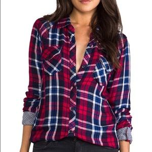 Rails Kendra Plaid Red Flannel Button Down Shirt✨